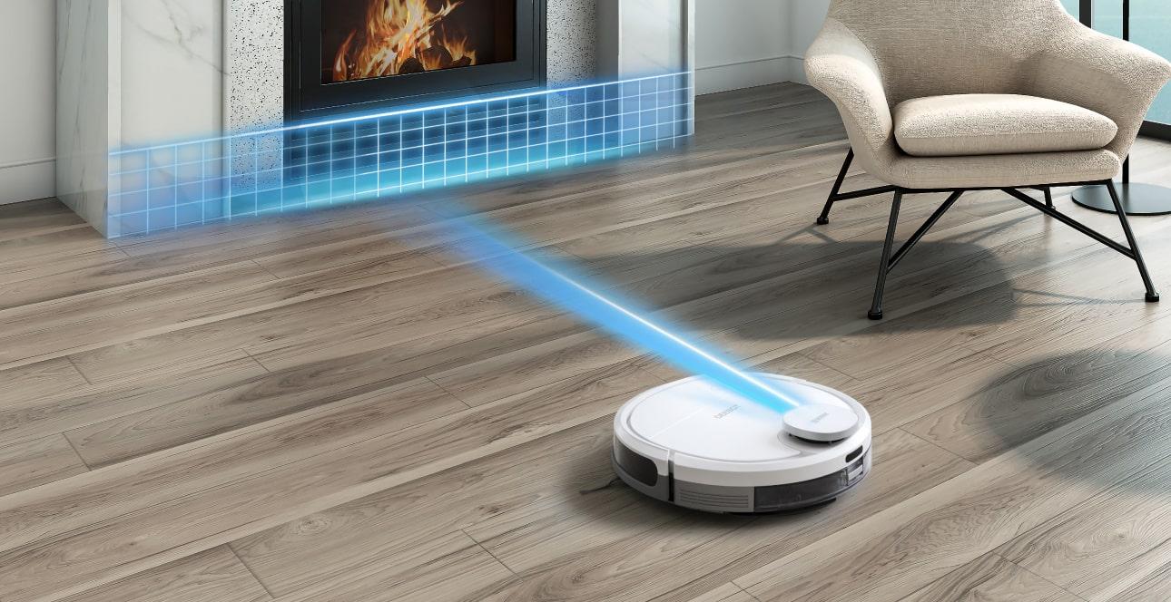 robot hút bụi thiết lập bản đồ không gian