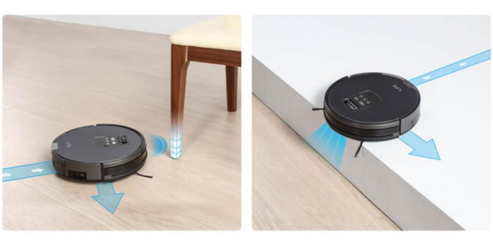 Robot hút bụi ILIFE với chế động chống va chạm, chống rơi