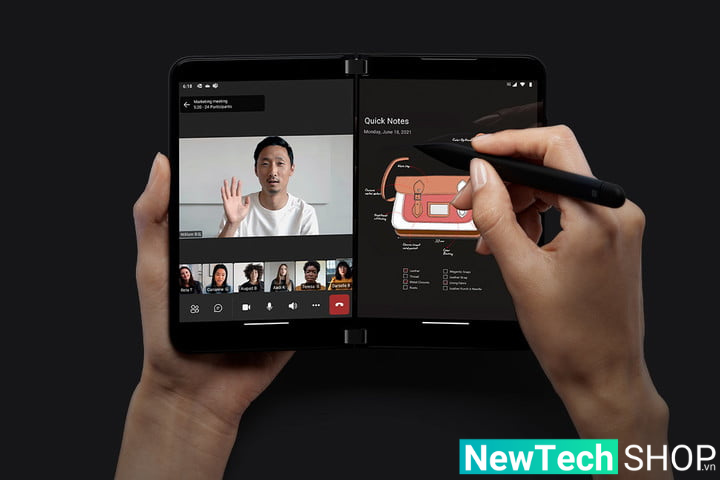 Tính năng hai màn hình của Surface Duo 2